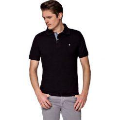 Koszulka Czarna Polo Jack. Czarne koszulki polo męskie LANCERTO, z bawełny, z krótkim rękawem. W wyprzedaży za 69.90 zł.