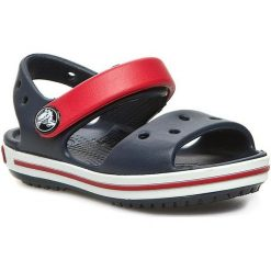 Sandały CROCS - Crocband Sandal Kids 12856 Navy/Red. Sandały chłopięce Crocs, z tworzywa sztucznego. Za 129.00 zł.