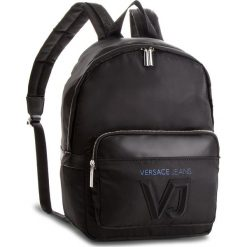 Plecak VERSACE JEANS - E1YSBB03-70720  Czarny. Czarne plecaki damskie Versace Jeans, z jeansu. W wyprzedaży za 519.00 zł.