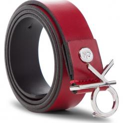 Pasek Damski CALVIN KLEIN - 3Cm Ck Adj.Buckle Belt K60K604899 640. Czerwone paski damskie Calvin Klein, w paski, ze skóry. Za 229.00 zł.