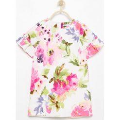 Sukienka w kwiaty - Kremowy. Białe sukienki dla dziewczynek Reserved, w kwiaty. Za 199.99 zł.