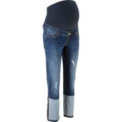 """Dżinsy ciążowe do kostki, proste nogawki bonprix niebieski """"stone"""". Jeansy damskie marki bonprix. Za 59.99 zł."""