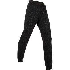 Spodnie sportowe, długie bonprix czarny melanż. Czarne spodnie dresowe damskie bonprix, melanż. Za 109.99 zł.
