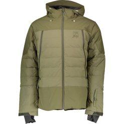"""Puchowa kurtka narciarska """"Cedar"""" w kolorze khaki. Brązowe kurtki snowboardowe męskie Maloja, z materiału. W wyprzedaży za 775.95 zł."""