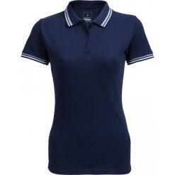 Koszulka polo damska TSD614 - granatowy - Outhorn. Niebieskie bluzki damskie Outhorn, z bawełny, polo. W wyprzedaży za 29.99 zł.