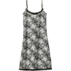 Koszula nocna bonprix szary łupkowy z nadrukiem. Szare koszule nocne damskie bonprix, z nadrukiem. Za 44.99 zł.