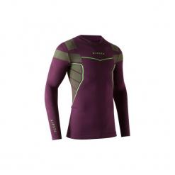 Koszulka termoaktywna długi rękaw dla dorosłych Kipsta Keepdry 500. Fioletowe koszulki sportowe męskie KIPSTA, z elastanu, z długim rękawem. Za 49.99 zł.
