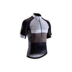 Koszulka krótki rękaw na rower szosowy ROADRACING 500 męska. Czarne koszulki sportowe męskie B'TWIN, z elastanu, z krótkim rękawem. Za 199.99 zł.