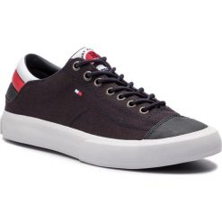 Tenisówki TOMMY HILFIGER - Long Lace Sneaker FM0FM01947 Midnight 403. Niebieskie trampki męskie Tommy Hilfiger, z gumy. Za 349.00 zł.