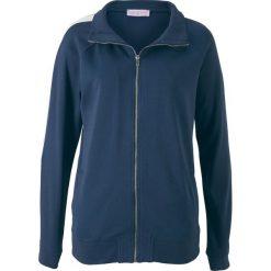 Bluza rozpinana z długim rękawem, z kolekcji Maite Kelly bonprix ciemnoniebiesko-biały. Bluzy damskie marki KALENJI. Za 79.99 zł.