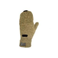 Rękawiczki mitenki 100 wełniane. Brązowe rękawiczki męskie SOLOGNAC, z materiału. Za 29.99 zł.