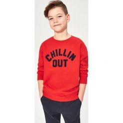 Bluza z aplikacją - Czerwony. Bluzy dla chłopców Reserved, z aplikacjami. Za 49.99 zł.