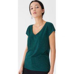 T-shirt z metalizowanym włóknem - Zielony. Zielone t-shirty damskie House, z włókna. Za 35.99 zł.