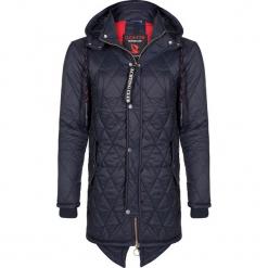 Płaszcz zimowy w kolorze granatowym. Niebieskie płaszcze męskie Giorgio di Mare, na zimę, z materiału. W wyprzedaży za 347.95 zł.