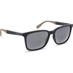 Okulary przeciwsłoneczne BOSS - 0263/S Blue Bluebei GT6. Niebieskie okulary przeciwsłoneczne męskie Boss, z tworzywa sztucznego. W wyprzedaży za 399.00 zł.