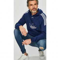 Adidas Originals - Bluza. Szare bluzy męskie adidas Originals, z nadrukiem, z bawełny. Za 329.90 zł.