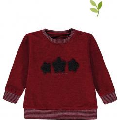 Bluza w kolorze bordowym. Czerwone bluzy dla dziewczynek bellybutton, z aplikacjami, z bawełny. W wyprzedaży za 42.95 zł.