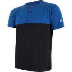 Sensor T-Shirt Męski Z Guzikami Merino Air Pt Niebiesko-Czarny Xl. Czarne t-shirty męskie Sensor, z dzianiny. Za 215.00 zł.