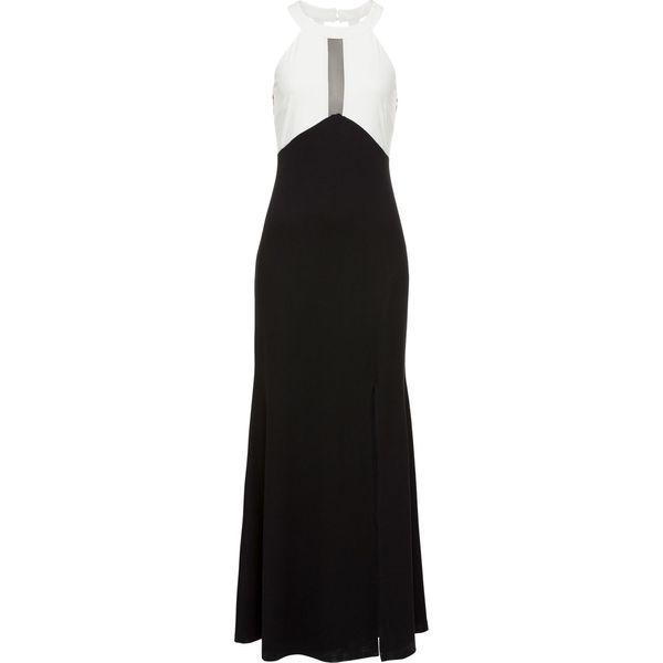 017b11704f Sukienka wieczorowa bonprix czarno-biały - Sukienki damskie marki ...