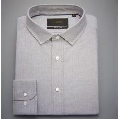 Bawełniana koszula slim fit - Jasny szar. Szare koszule męskie Reserved, z bawełny. Za 119.99 zł.