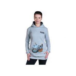 BLUE FISH by NRK bluza damska grey. Szare bluzy damskie Slogan ubrania ekologiczne, etyczne i wegańskie, z nadrukiem, z bawełny. Za 289.00 zł.
