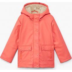 Mango Kids - Kurtka dziecięca Ita 110-164 cm. Różowe kurtki i płaszcze dla dziewczynek Mango Kids, z materiału. Za 139.90 zł.