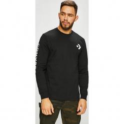 Converse - Longsleeve. Czarne bluzki z długim rękawem męskie Converse, z nadrukiem, z bawełny, z okrągłym kołnierzem. Za 129.90 zł.