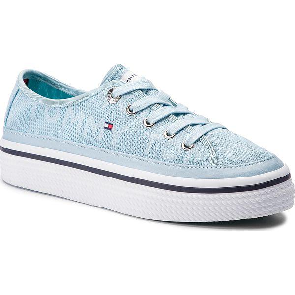 d19fc72f49af1 Tenisówki TOMMY HILFIGER - Tommy Jacquard Flatform Sneaker ...