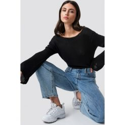 Rut&Circle Sweter z dekoltem na plecach Vanessa - Black. Czarne swetry damskie Rut&Circle, z dzianiny, z dekoltem na plecach. Za 80.95 zł.