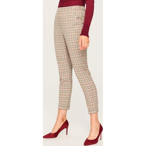 c48b9ecc74986 Spodnie garniturowe w kratę - Wielobarwn - Spodnie materiałowe ...