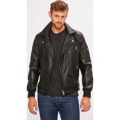 Guess Jeans - Kurtka. Czarne kurtki męskie Guess Jeans, z aplikacjami, z elastanu. Za 769.90 zł.