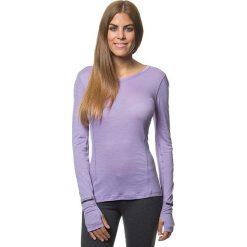 Lniana koszulka w kolorze fioletowym. Bluzki damskie Benetton, z długim rękawem. W wyprzedaży za 107.95 zł.