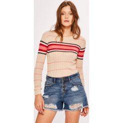 Pepe Jeans - Sweter Maria. Różowe swetry damskie Pepe Jeans, z dzianiny, z okrągłym kołnierzem. Za 259.90 zł.