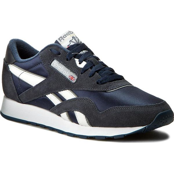 3da5aa46 Buty Reebok - Cl Nylon 39749 Team Navy/Platinum - Półbuty na co ...