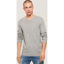 Sweter basic - Szary. Swetry przez głowę męskie marki Giacomo Conti. W wyprzedaży za 39.99 zł.