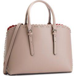 Torebka CREOLE - K10538  Pudrowy Róż. Czerwone torebki do ręki damskie Creole, ze skóry. Za 359.00 zł.
