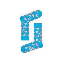 Skarpetki Happy Socks BAN01-6000. Brązowe skarpety męskie Happy Socks, z bawełny. Za 24.43 zł.