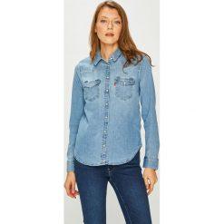 Levi's - Koszula. Brązowe koszule damskie Levi's, z bawełny, casualowe, z klasycznym kołnierzykiem, z długim rękawem. Za 299.90 zł.