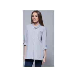 Luźna koszula oversize szara H010. Niebieskie koszule damskie Harmony. Za 135.00 zł.