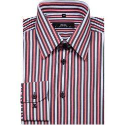 Koszula MARCO KMW00004. Białe koszule męskie Giacomo Conti, w paski, z bawełny, z klasycznym kołnierzykiem. Za 199.00 zł.