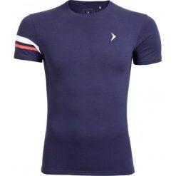 T-shirt męski TSM615 - ciemny granatowy - Outhorn. Niebieskie t-shirty męskie Outhorn, na lato, z bawełny. W wyprzedaży za 24.99 zł.