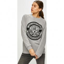 Pepe Jeans - Bluza. Szare bluzy damskie Pepe Jeans, z aplikacjami, z bawełny. Za 279.90 zł.