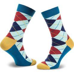 Skarpety Wysokie Unisex HAPPY SOCKS - ARY01-6006 Kolorowy. Szare skarpety męskie Happy Socks, w kolorowe wzory, z bawełny. Za 34.90 zł.