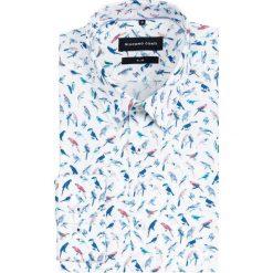 Koszula SIMONE slim KDWS000465. Szare koszule męskie Giacomo Conti, z bawełny, z klasycznym kołnierzykiem, z długim rękawem. Za 299.00 zł.