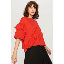 Bluzka z falbanami - Czerwony. Bluzki dla dziewczynek Reserved. W wyprzedaży za 29.99 zł.