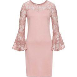 Sukienka z dżerseju z rozkloszowanymi rękawami bonprix różowobrązowy. Czerwone sukienki damskie bonprix, z dżerseju. Za 149.99 zł.