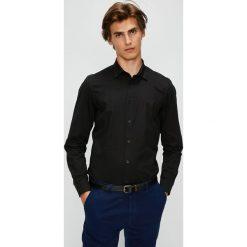 Diesel - Koszula. Czarne koszule męskie Diesel, z bawełny, z klasycznym kołnierzykiem, z długim rękawem. W wyprzedaży za 379.90 zł.