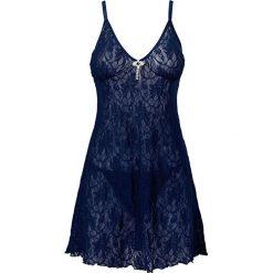 Koszulka nocna + stringi (2 części) bonprix niebieski. Stringi damskie marki bonprix. Za 37.99 zł.