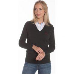 Polo Club C.H..A Sweter Damski M Ciemnozielony. Szare swetry damskie Polo Club C.H..A, dekolt w kształcie v. W wyprzedaży za 239.00 zł.