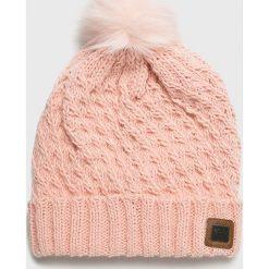 Roxy - Czapka. Różowe czapki i kapelusze damskie Roxy, z dzianiny. W wyprzedaży za 99.90 zł.